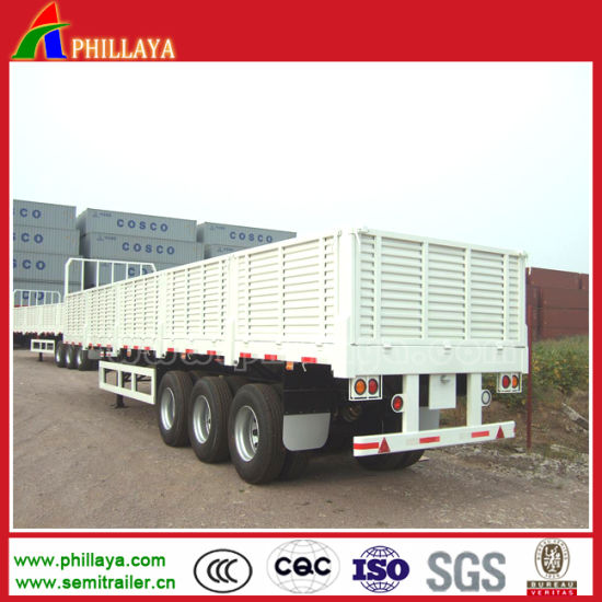 3axle 40ton Truck Side Wall Bulk Transport Cargo Semi Trailer pictures & photos