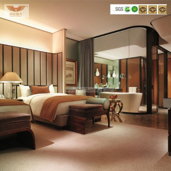 Modern Hotel Furniture Luxury Bedroom Set (HY-031) pictures & photos