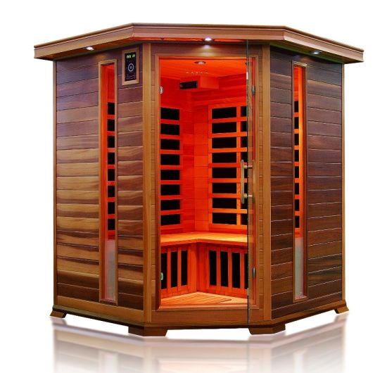 Beautiful Wooden Far Infrared Sauna Cabin for 3-4 People