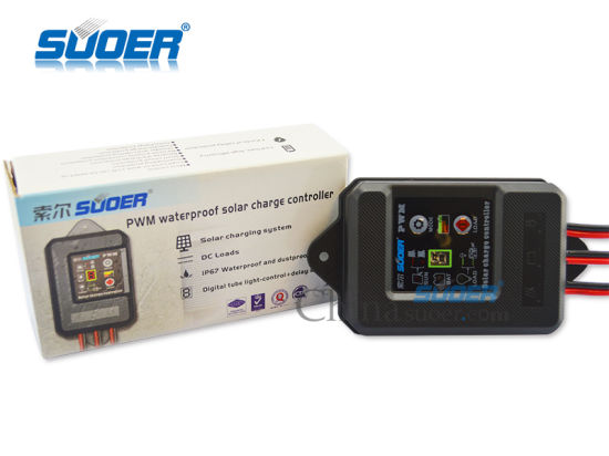 Suoer 5A 12V Solar Street Light Controller with Waterproof Function (ST-F1205) pictures & photos