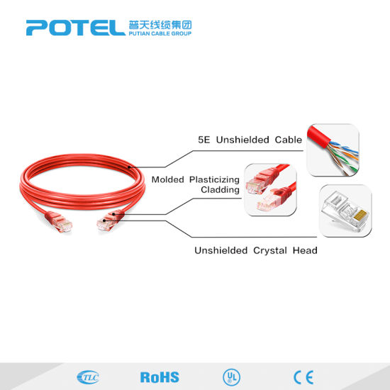 China Cat5e Cat6 Cat6a Network Cable 24awg 1 2 3m Patch Cord