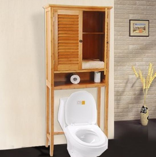 Natural Bamboo Wall Storage Bathroom Cabinet (EB-91352) pictures & photos