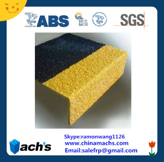 Good Price Factory Direct Supply Fiberglass FRP GRP Anti-Slip Stair Nosings Passed ABS Certification and SGS Test pictures & photos
