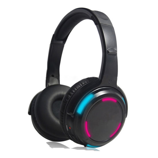 Silent Disco Stereo Headphones with LED Light for Party Meeting
