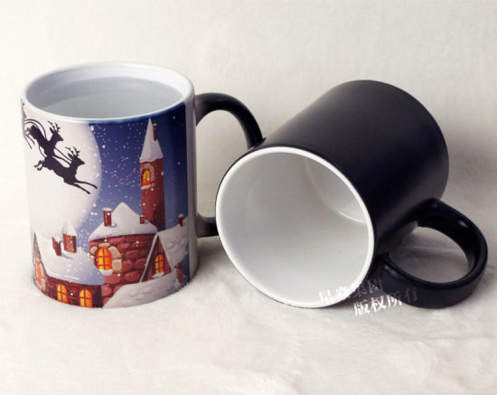 China 11oz Black Matte Color Changing Mug China Color Changing Mug