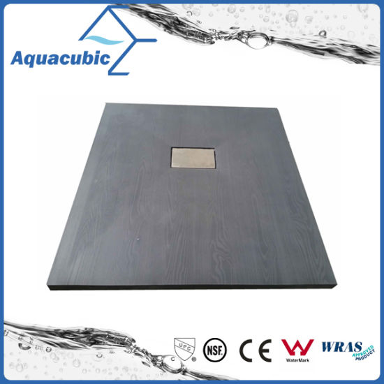 Sanitary Ware 1100*800 Wood Surface No Lip SMC Shower Base (ASMC1180W) pictures & photos