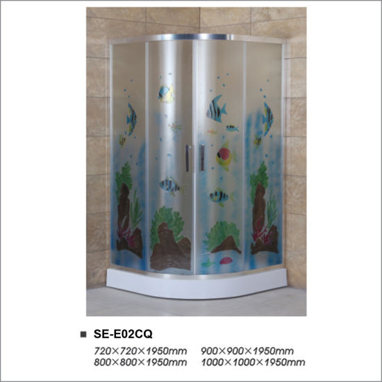 6mm Colorful Tempered Glass Shower Enclosure Room for Bathroom