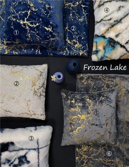 Printed Polyester Rabbit Fur Sofa Cushions / Fake Fur Pillows Home Decorative Cushions