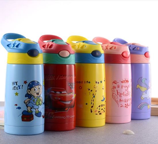 Amazon 500ml BPA Free Vacuum Insulated 316 Double Wall Stainless Steel Kids Water Bottle with Handle