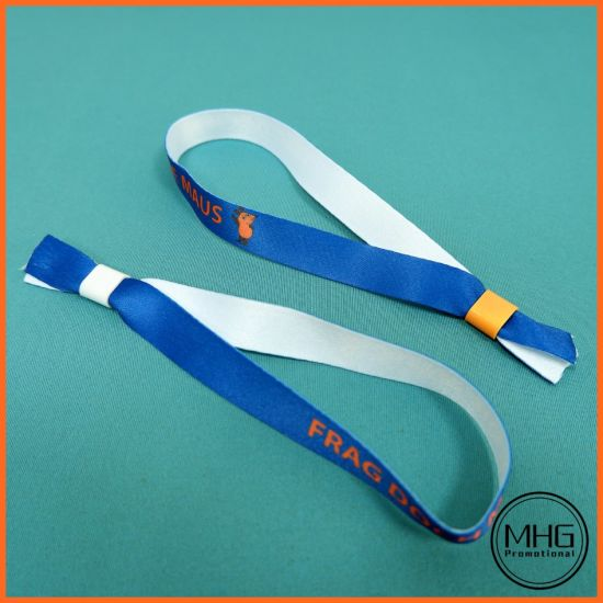 Cheap Customized Woven Fabric Wrist Bands for Event