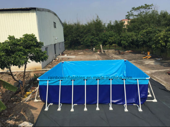 Large PVC Material Portable Swimming Pool Frame Metal Pools
