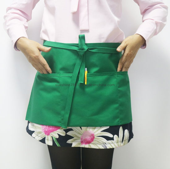 Customized Cooking Barista Catering Nail Salon Coffee Short Waist Apron