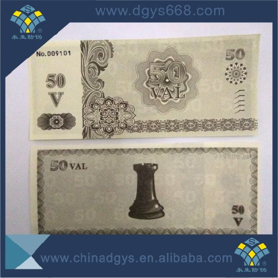 Thermal Paper Fanfold Security Paper Ticket