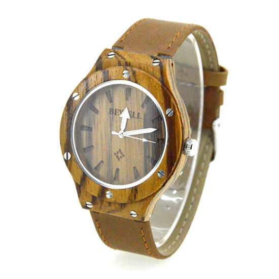 OEM Quality Unisex Bamboo Wooden Watch for Valentine Day Gifts pictures & photos
