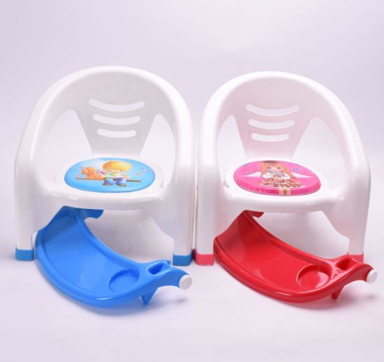 Multifunctional Baby Dinner Chair Plastic Feeding Chair with Front Cover pictures & photos