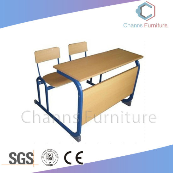 Popular Student Desk Wood School Furniture for Two Persons (CAS-SD1817)