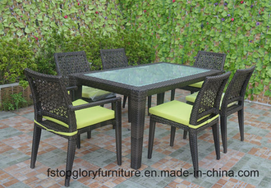 2018 New Design Outdoor Rattan Dining Table Set