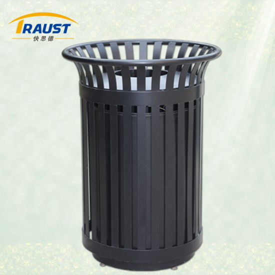 Factory Price Outdoor Steel Dustbin Rolled Large Capacity Trash Bin