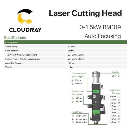 Cloudray Fiber Laser Cutting Machine Raytools Laser Cutting Head Bm109  0-1 5kw