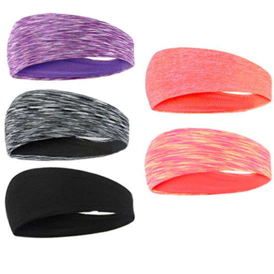 KQ/_ Cy/_ Tie Dye Elastic Breathable Sweat Absorbent Headband Yoga Sports Details about  /EG/_ IC