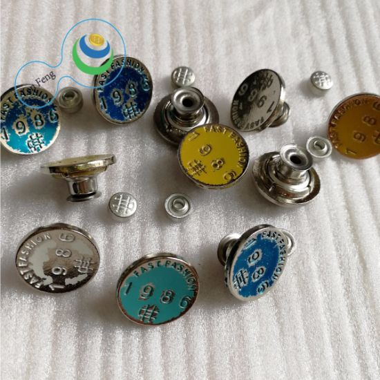 18mm Fashion Active Bottom Alloy/Metal/Brass/Stainless Steel Jeans Snap Shank Button for Decoration