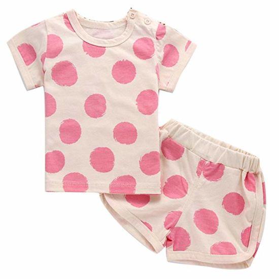 Toddler Kids Baby Girls Long Sleeve Fold Dot Print Dress Outfits Clothes Dress