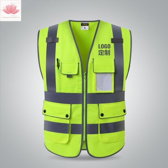 6ac76d584e Custom Yellow Safety Vest High Visibility Safety Wear Safety Uniform  Workwear Suit