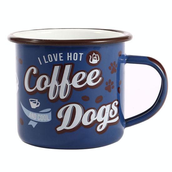 High Quality Cast Iron Carbon Steel Enamel Customized Coffee Mug with Logo