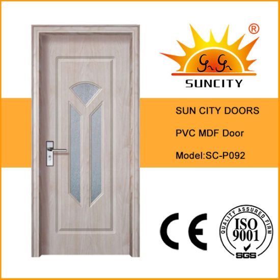 Interior Wood Decorative PVC Laminated Sliding Balcony Door