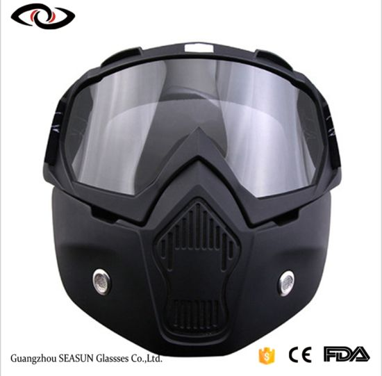 e2718ff5969d Professional Motocross Goggles Glasses Face Dust Mask with Detachable  Motorcycle Oculos Gafas and Mouth Filter for Open Face
