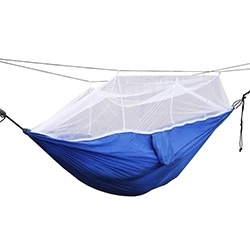 Wholesale Outdoor Portable Folding Nylon Parachute Double Camping Hammocks with Tree Straps pictures & photos