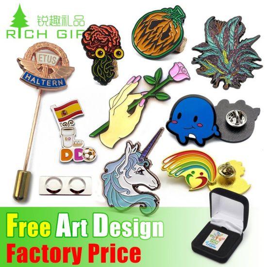 China Manufacturer Cheap OEM Wholesale Promotion Promotional Gift Military Cute Printing Flag Men Suit Metal Badge Custom Logo Gold Enamel Lapel Pin No Minimum