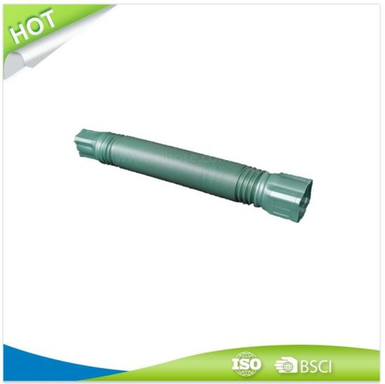 """Plastic Garden Downspout Flexible Hose 65mmx7' with Male and 3""""X4"""" Adapter"""