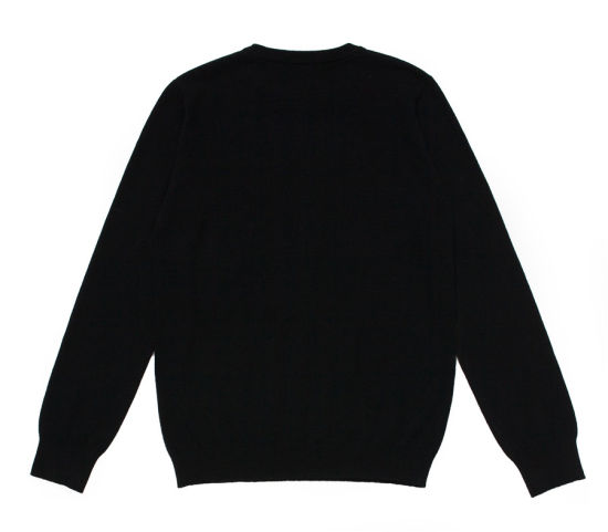 Rib Knit Round Neck Men Intarsia 100%Cashmere Sweater pictures & photos