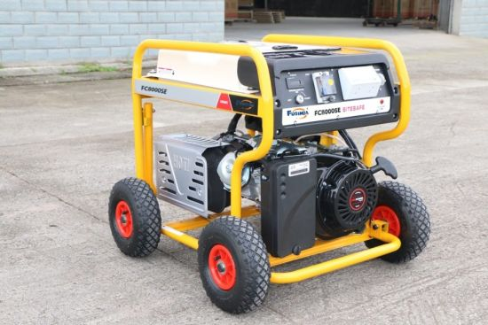 7500 Watts Gasoline Generator Petrol with RCD and 4 X Pneumatic Large Wheels (FC8000SE) pictures & photos