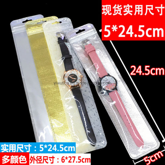 Jewelry Watch Ziplock Plastic Bag with One Side Transparent
