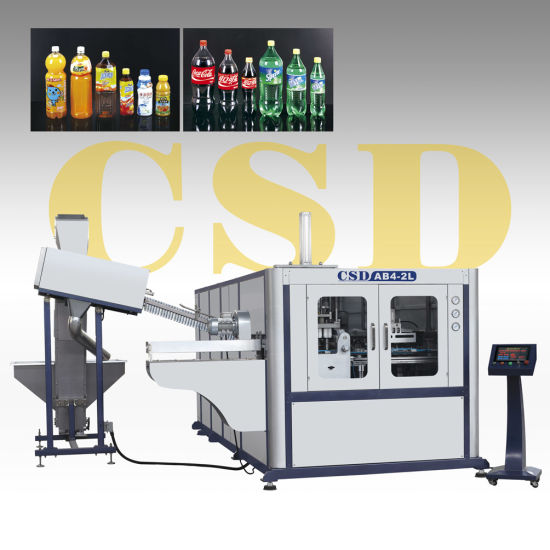CE Approved With Pet Two-Stage Automatic Blow Molding Machines (CSD-AB4-2L) pictures & photos