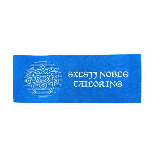 Hot Sale Custom Own Letters Logo Woven Garment Labels Woven Main Label