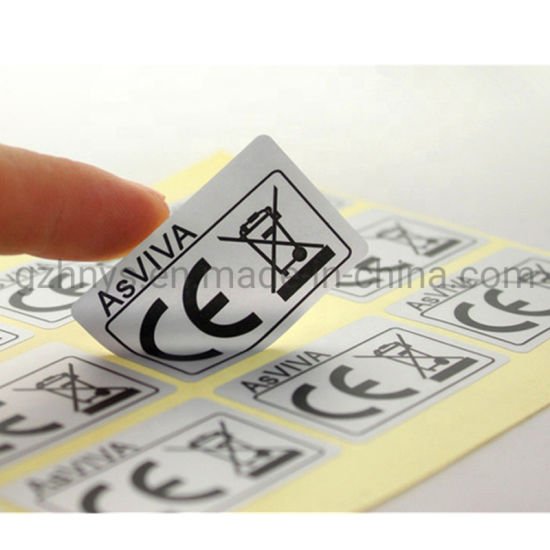 High Quality and Viscosity High Temperature Resistant Mechanical Sticker Plain Stickers Label