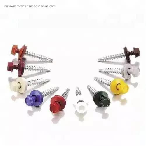Factory supply hexagonal self drilling screw A2-70 stainless steel roofing screws