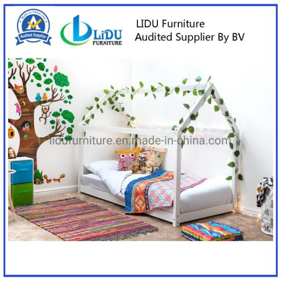 Kids Children Simple Toddler House Bed Wooden Children Easy Assemble House Bed with Cheap Price
