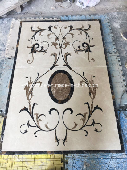 Waterjet Marble Medallion for Interior Decoration pictures & photos