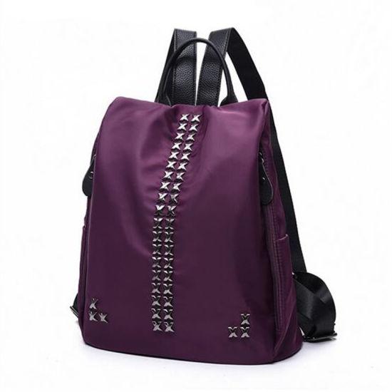 2019 Korean Version of The New Nylon Cloth Rivet Backpack / Fashion Bag (GB#1517-6 MF)