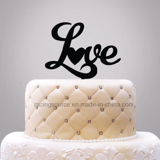 Love Cake Topper Acrylic Wedding Cake Topper pictures & photos