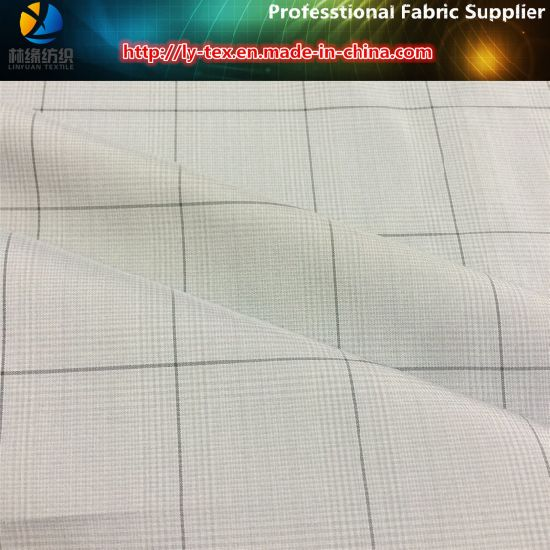 Grey Yarn Dyed Fabric of Polyester Woven Textile (YD1187) pictures & photos