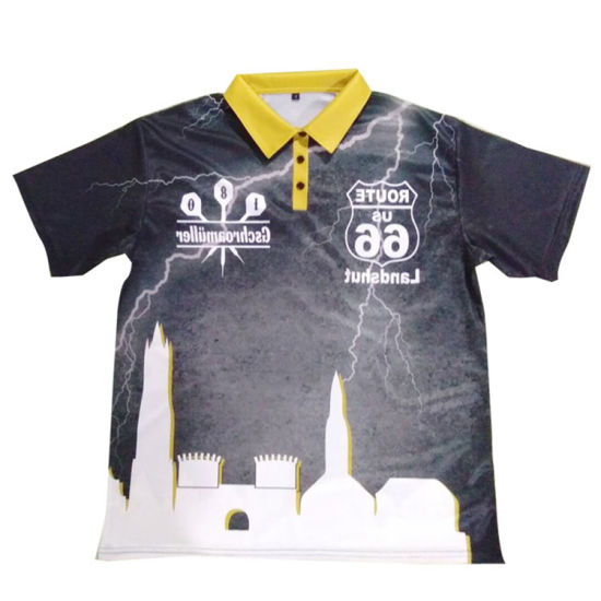 Custom Goldleaf Made-in-China Hot Sale Sublimation 100% Polyester Dry Fit Darts Polo Shirt