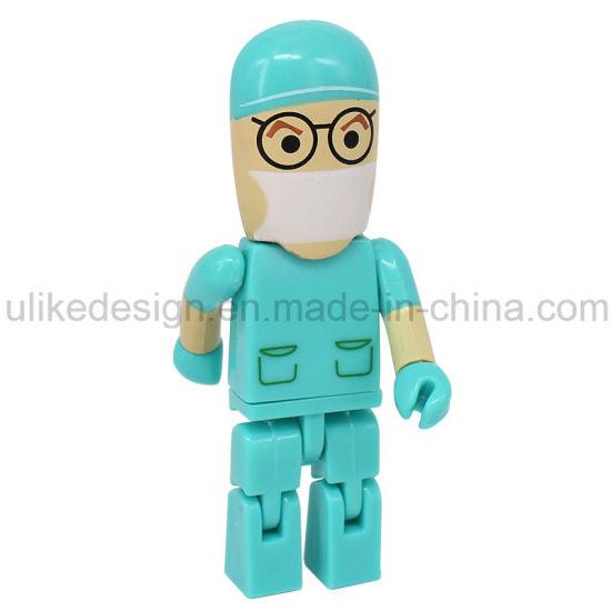 Hot Sale Doctor Cartoon Plastic USB Flash Drive /USB Flash Drive/USB Stick