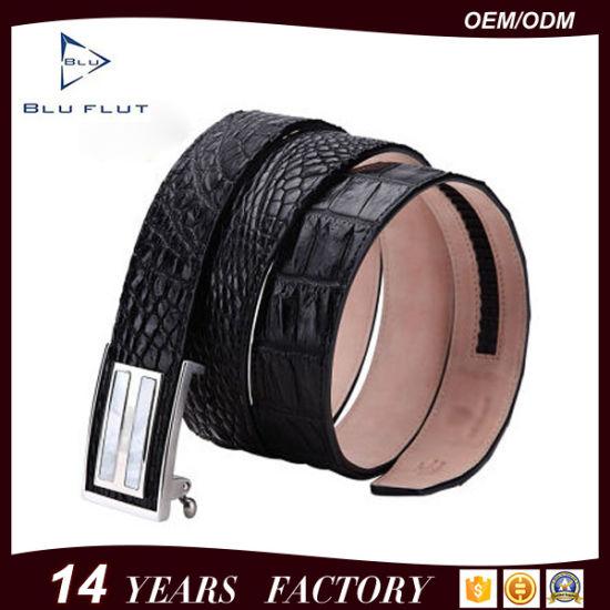 China Factory Wholesale Fashion Casual Design Genuine Crocodile Leather Belt