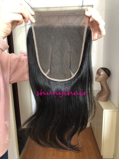 Brazilian Hair 7*7 Straight Closure Pre Plucked Wholesale Price Top Quality