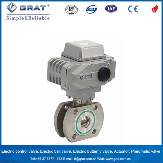 Wafer Type Proportional Electric Ball Valve to Connect Vacuum Pump pictures & photos